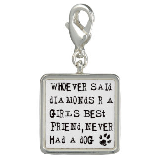 CUSTOMIZE background color heARTdog quote Charms