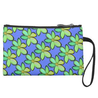 Customize Background Floral Pattern Wristlet Purse