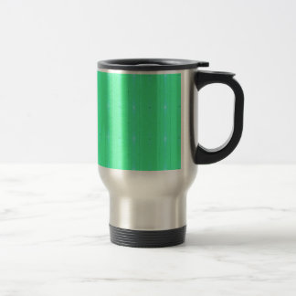Customize Background Fluorescent Green Pattern Travel Mug