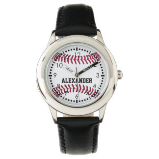 Customize Baseball Name Wristwatch