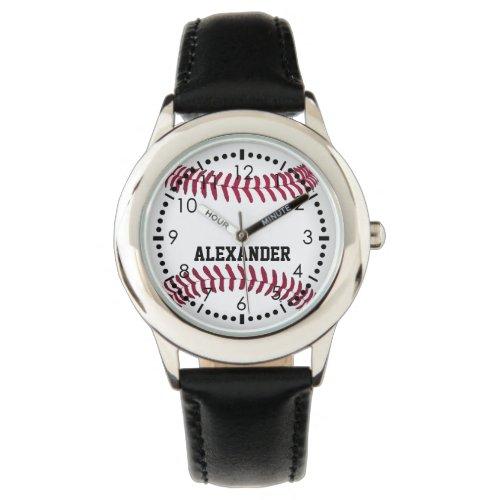 Customize Baseball Name Wristwatch