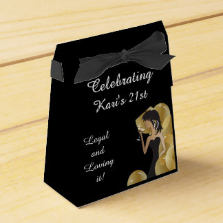 Customize Birthday Party Box Favors - Gold Favor Box