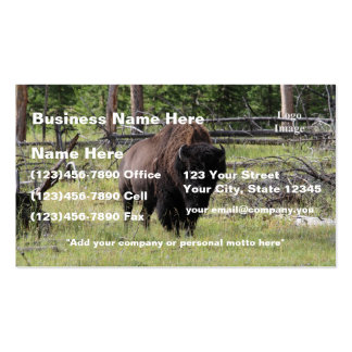 (Customize) Bison of Yellowstone Photo Business Cards