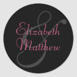 Customize Black First Names Seal Sticker