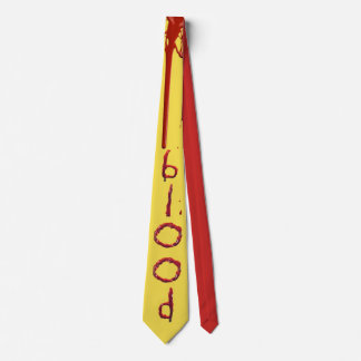 Customize bloody blood text neck tie