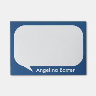 Customize blue and white Talk Bubble Post-it Notes