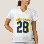 Customize Blue and Yellow Football Sports Jersey