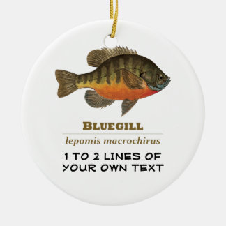 Customize Bluegill, Bream Ceramic Ornament