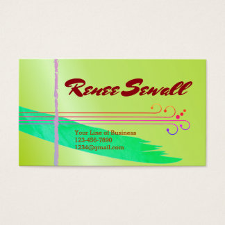 Customize both sides of Flowery Watercolor Business Card