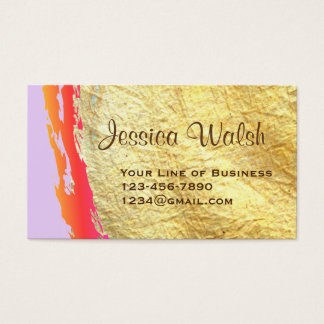Customize both sides of Gold and Paint Swash Business Card