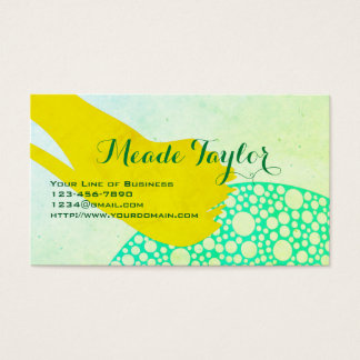 Customize both sides of Green Splash Business Card