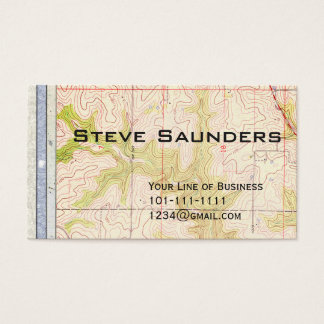 Customize both sides of Paper and Topo Map Business Card