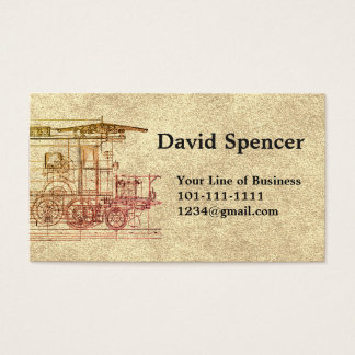 Customize both sides of Stone & Locomotive Drawing Business Card