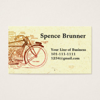 Customize both sides of Stone & Motorcyle Drawing Business Card