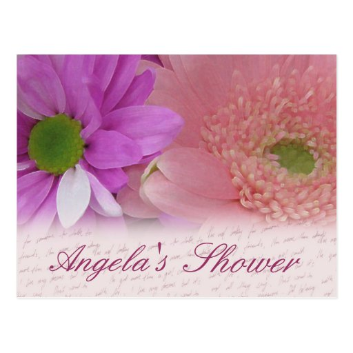 Customize bridal shower flower postcard