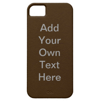 Customize Brown Leather iPhone SE/5/5s Case