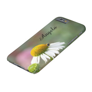 Customize - Busy Bee on Flower Black Text Barely There iPhone 6 Case