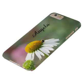 Customize - Busy Bee on Flower Black Text Barely There iPhone 6 Plus Case