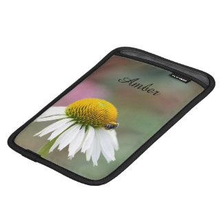 Customize - Busy Bee on Flower Black Text iPad Mini Sleeve