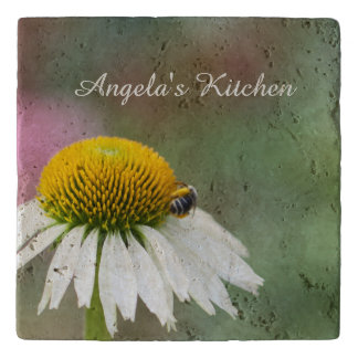 Customize - Busy Bee on Flower Trivet