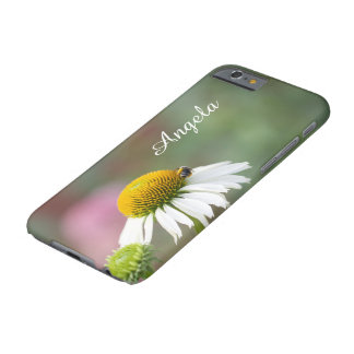 Customize - Busy Bee on Flower White Text Barely There iPhone 6 Case
