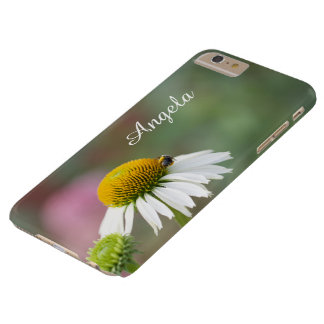 Customize - Busy Bee on Flower White Text Barely There iPhone 6 Plus Case