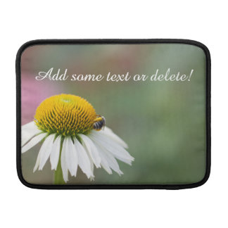 Customize - Busy Bee on Flower White Text Sleeve For MacBook Air