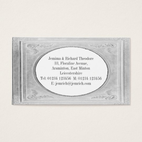 Customize Chalky White Border Business Card