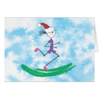 CUSTOMIZE - Christmas Holiday Lady Runner Card