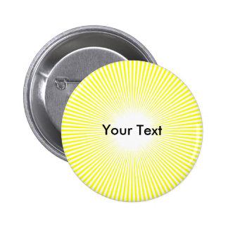 Customize Circle Sun Rays Yellow Button Name Tag