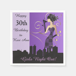 Customize Classy Birthday Napkins for Her
