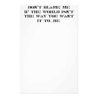 Customize  Clean Slate Rant For The Day Stationery