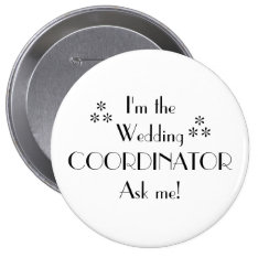 Customize Color-wedding Coordinator Pinback Button at Zazzle