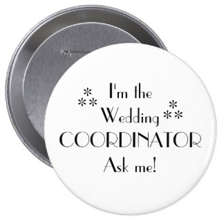 Customize Color-Wedding Coordinator Pinback Button