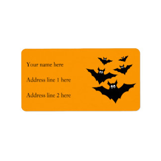 Customize Cool cute Flying bats Halloween Address Label
