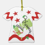 CUSTOMIZE Cross Country Grass Runner and Stars Ornament