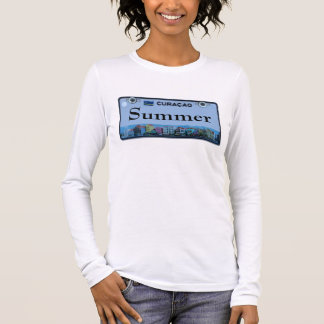 Customize Curacao License Plate Long Sleeve T-Shirt