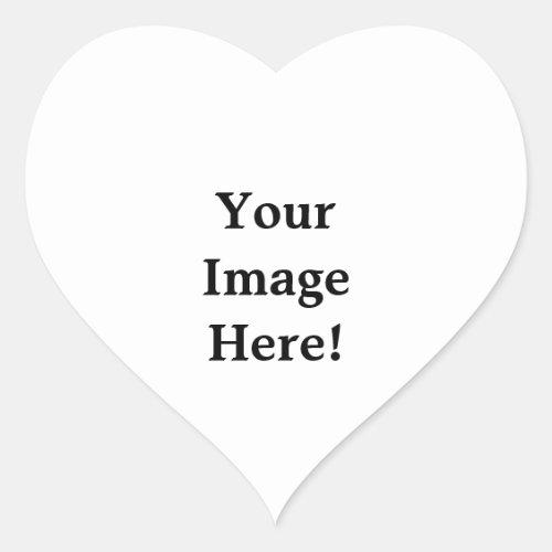 Customize Custom sticker heart love design blank