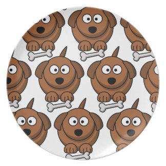 Customize Cute Dog Party Plate for Kids