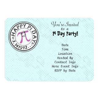Customize - Cute Happy Pi Day Party 5x7 Paper Invitation Card