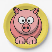 Customize Cute Pig Party Plate