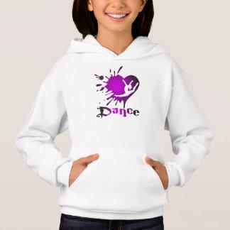 Customize Dance Heart Splat Girls Shirts Hoodies