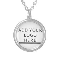 Customize  - Design - Add your logo Silver Plated Necklace