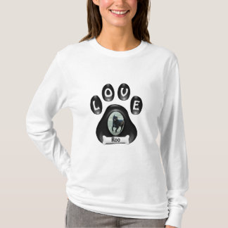 (Customize)Doggie Paw with Picture and Name T-Shirt