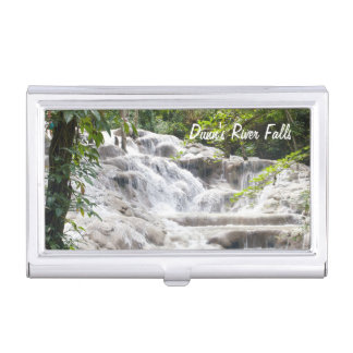Customize Dunn's River Falls photo Business Card Holder