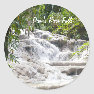 Customize Dunn's River Falls photo Classic Round Sticker