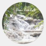 Customize Dunn's River Falls photo Round Sticker