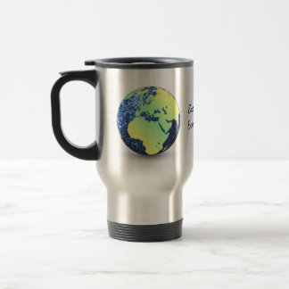 Customize Earth Day Every Day blue sparkles Globe Travel Mug