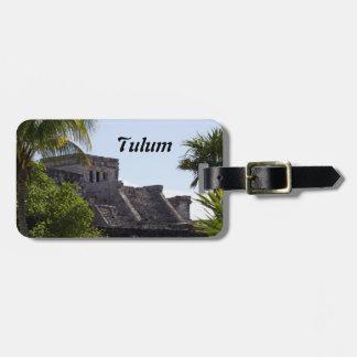 Customize El Castillo de Tulum - Mayan ruins Luggage Tag
