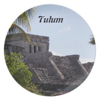 Customize El Castillo de Tulum - Mayan ruins Party Plates